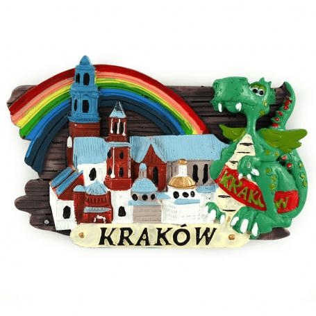 Plaque magnétique pour réfrigérateur Cracovie Dragon