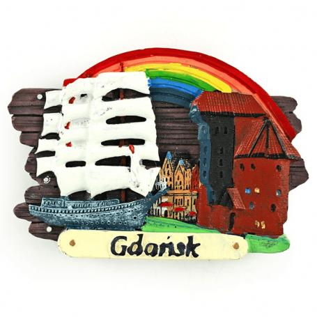 Magnes na lodówkę deska Gdańsk Żuraw