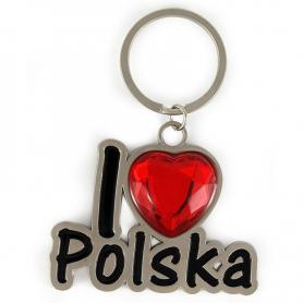 Brelok metalowy I love Polska