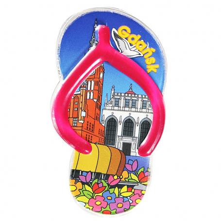 Clip plástico del imán del refrigerador - aletas de Gdansk