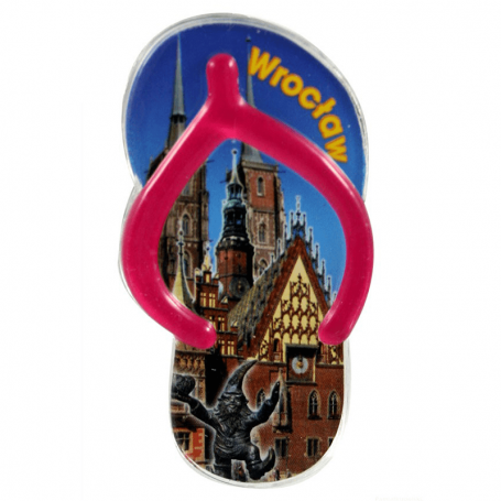 Imán plástico imán de nevera - aletas Wroclaw