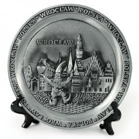 Souvenir metal plate Wroclaw