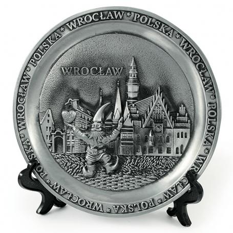 Placa de metal Wroclaw