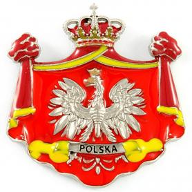 Aimant de réfrigérateur en métal Pologne embleme