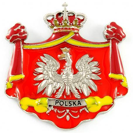 Metalines šaldytuvo magneto Lenkijos emblema