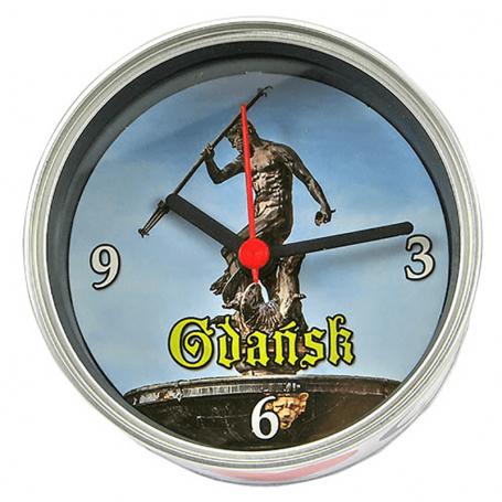 Horloge dans une boîte de Gdańsk