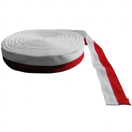 Taśma rypsowa biało-czerwona 3 cm