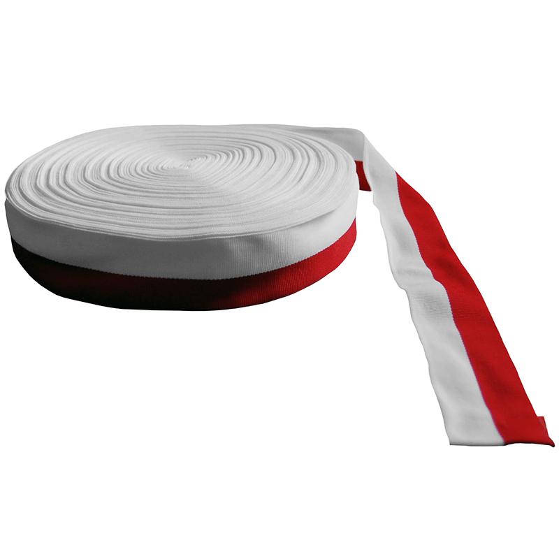 Taśma rypsowa biało-czerwona 3 cm, opakowanie 50 m