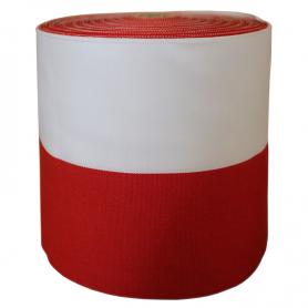 Grosgrain tape hvitt-rød 10 cm