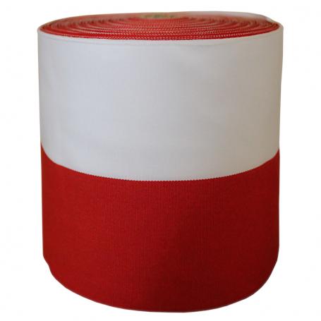Ropliu juosta baltai raudona 10 cm
