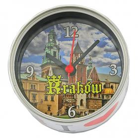 Souvenir clock in a can Cracow