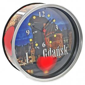 Souvenir clock in a can Gdansk