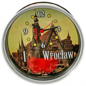 Souvenir clock in a can Wroclaw