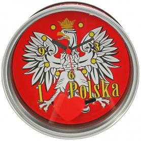 Souvenir clock in a can Poland