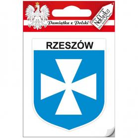 Einzelnes Aufkleberwappen von Rzeszów