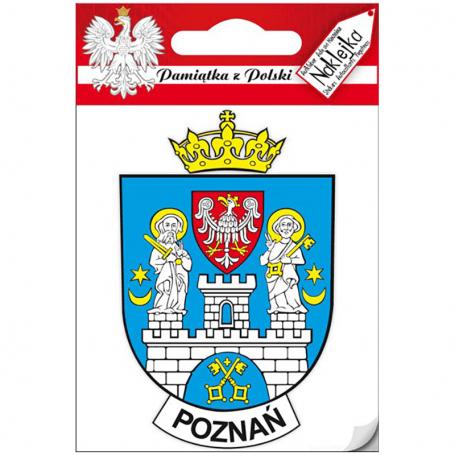 Pegatina individual - escudo de armas de Poznan