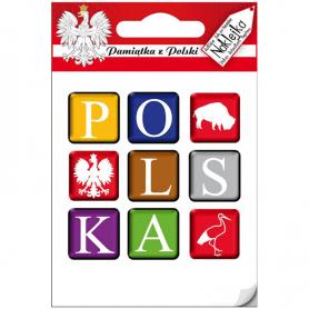 Einzelner Aufkleber - Polen-Würfel