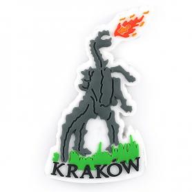 Gumowy magnes na lodówkę Kraków smok pomnik