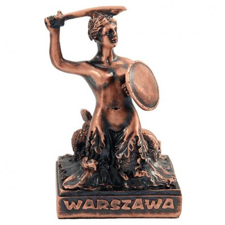 Pequena estatuilla de sirena de Varsovia