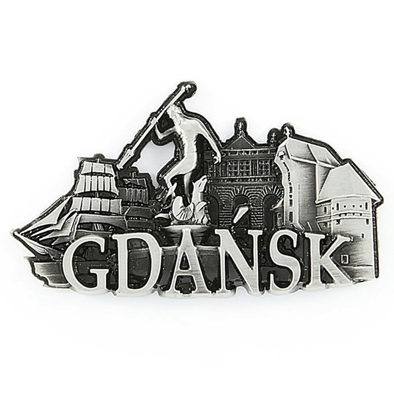 Aimant frigo en métal Gdańsk