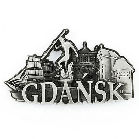 Imán de nevera de metal Gdańsk