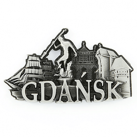 Metalinis šaldytuvo magnetas Gdanske