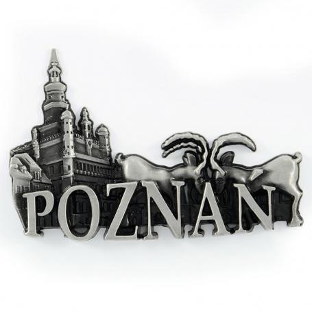 Imán de nevera de metal Poznań