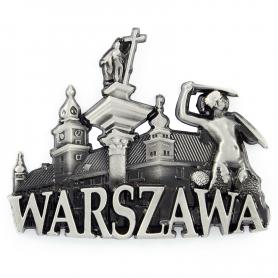 Metalowy magnes na lodówkę Warszawa Starówka
