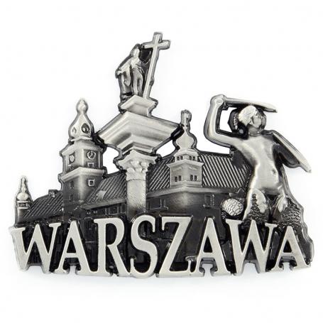 Imán de nevera de metal Warsaw Old Town