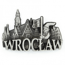 Metal fridge magnet Wroclaw