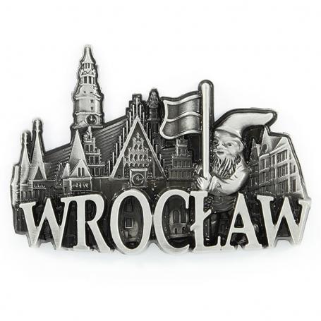 Imán de nevera de metal Wroclaw