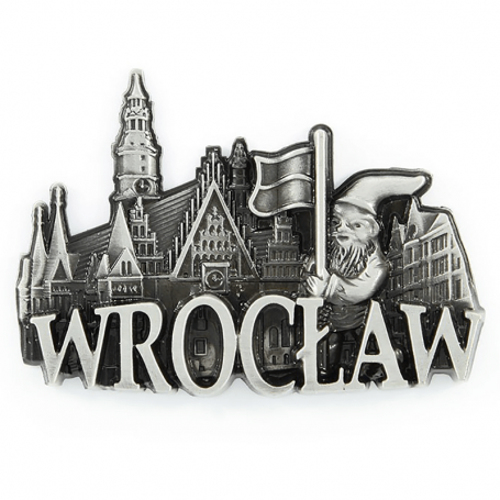 Metalowy magnes na lodówkę Wrocław