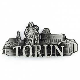 Metal fridge magnet Torun