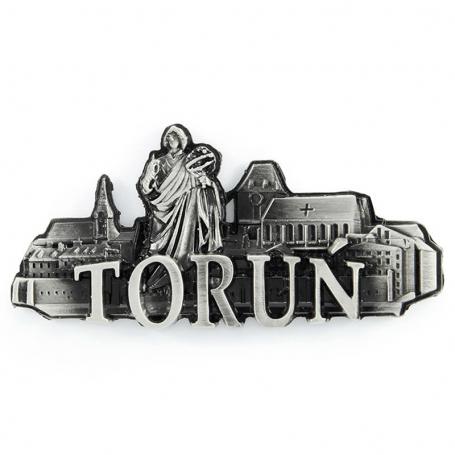 Metalowy magnes na lodówkę Toruń