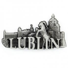 Metalowy magnes na lodówkę Lublin