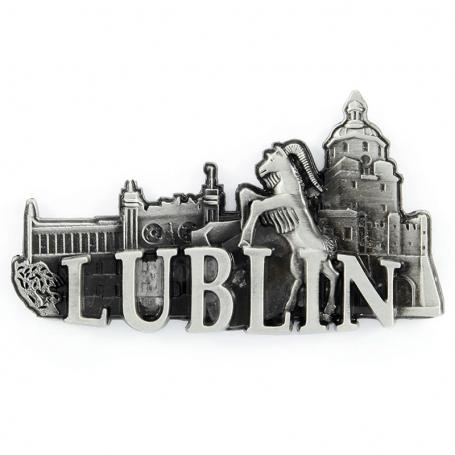 Imán de nevera de metal Lublin