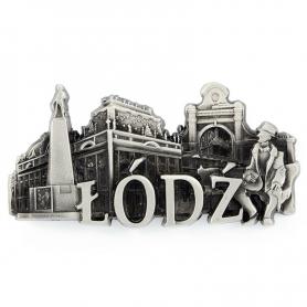 Metal fridge magnet Lodz