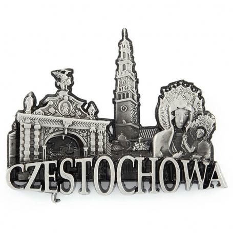 Imán de nevera de metal Częstochowa