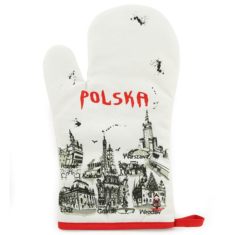 Le gant de cuisine Pologne
