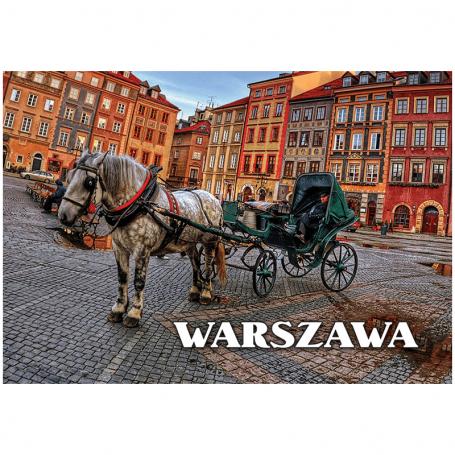 Carte postale 3D Place du marché de la vieille ville de Varsovie