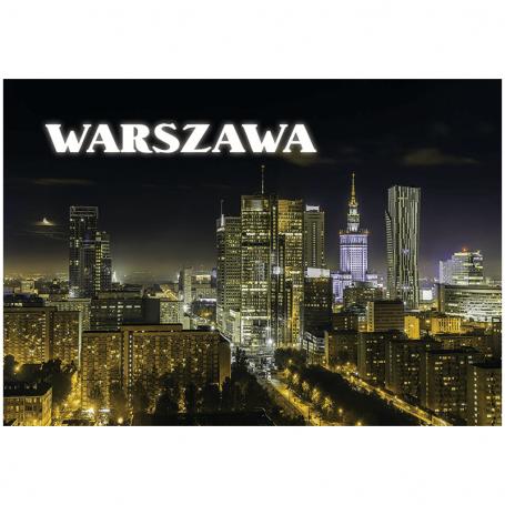 Pocztówka 3D Warszawa panorama