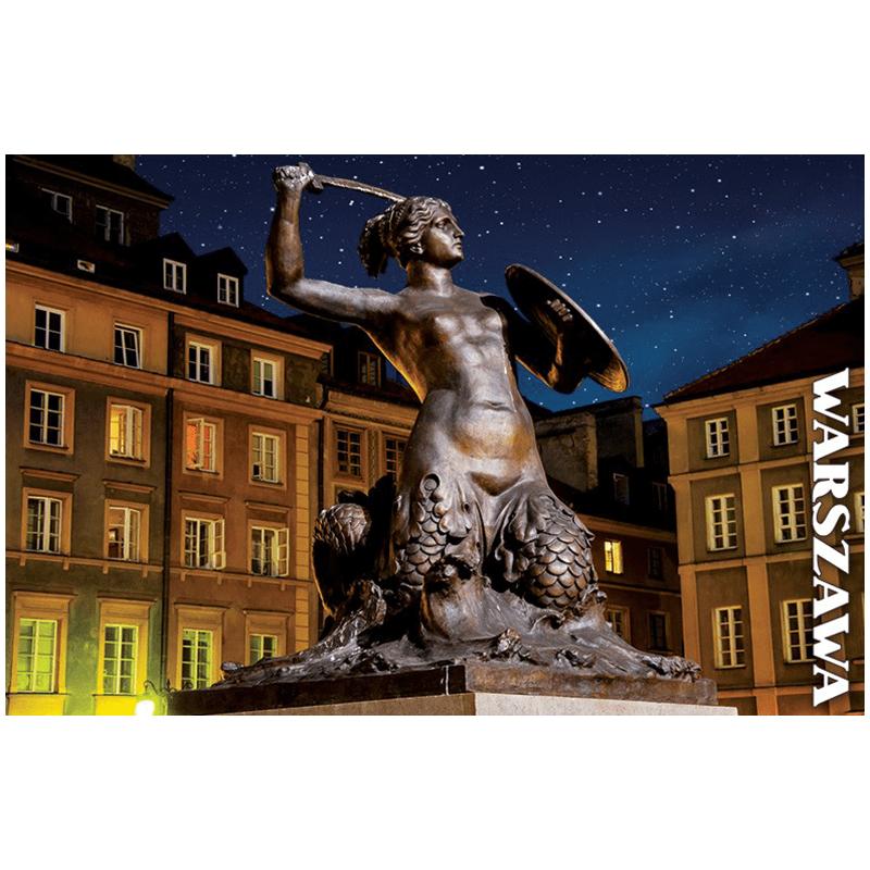 Pocztówka 3D Warszawa Syrenka