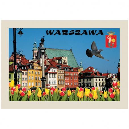 Pocztówka 3D Warszawa Plac Zamkowy