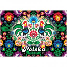 3D postcard Poland folk