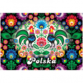 3D Postkarte Polen Folk
