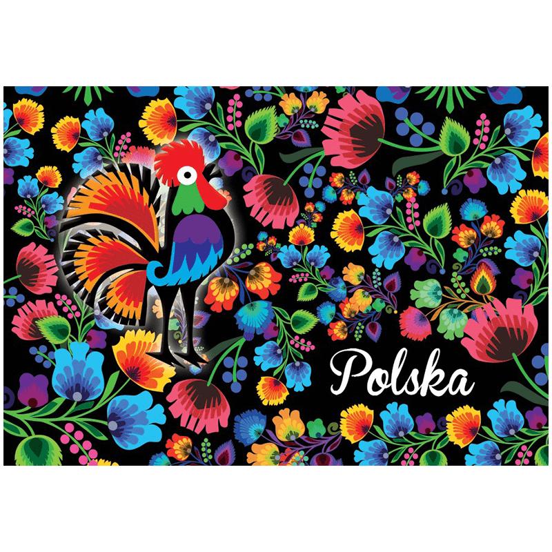 Carte postale 3D Pologne populaire
