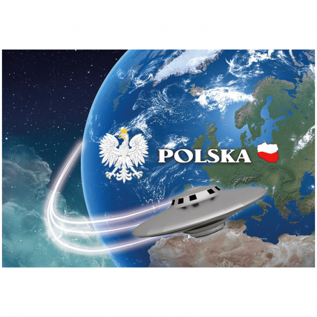 Pocztówka 3D Polska kula ziemska