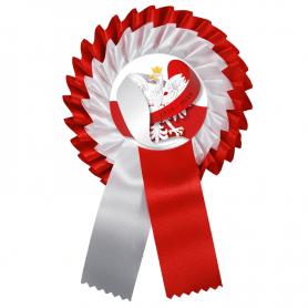 Kotylion biało-czerwony Polska Niepodległa