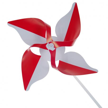 Pinwheel blanco y rojo