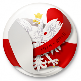 Knapp emblem, pin Polen självständighet